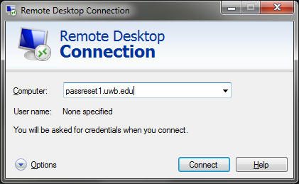 How to Change Your Password via Remote Desktop - Information