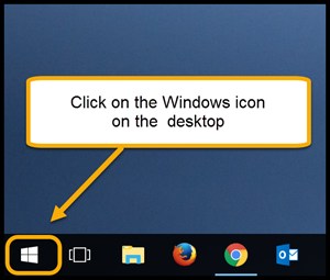 Windows icon on desktop