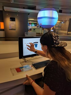 girl at computer screen
