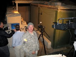 Capt. Hacker on duty in Iraq