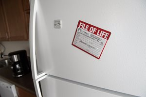 File of Life on refrigerator door