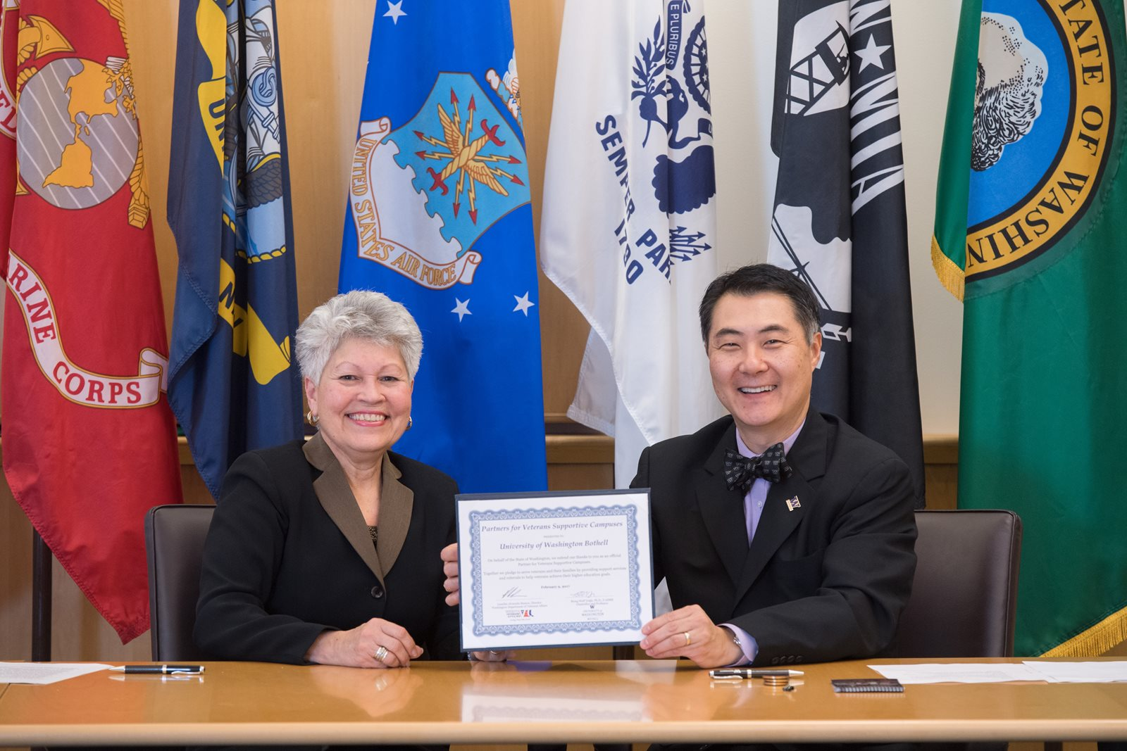 Wolf Yeigh signs veterans campus agreement