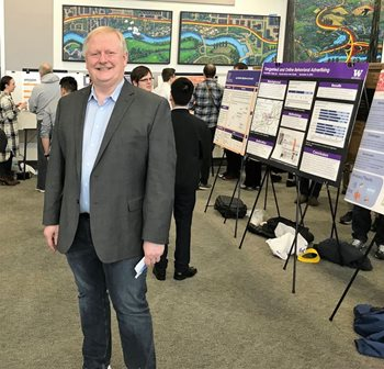 Bill Erdly at CSSE capstone poster presentations.