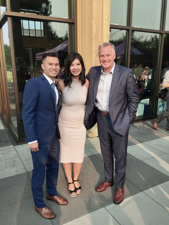 David and Anny Bui with Mark Wright, right