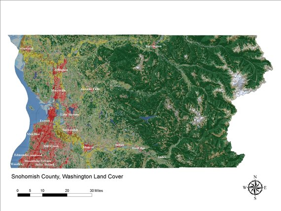 Snohomish County land coverage map