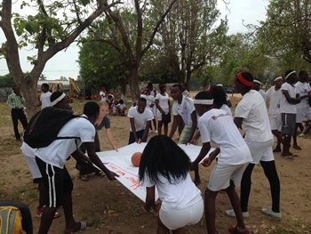 Anti-malaria group activity in Manhica, Mozambique
