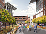 artist's rendering of Campus Way
