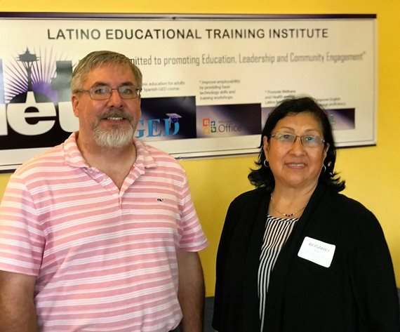 Tom Laing and Rosario Reyes