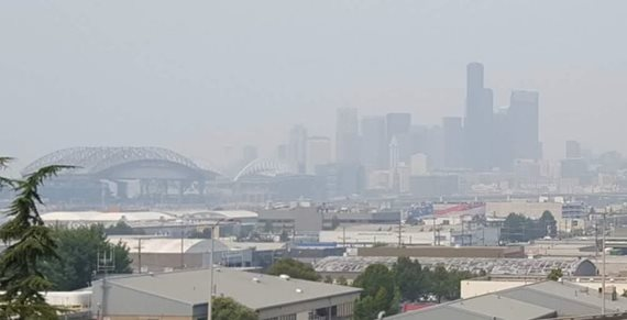 Worst ever smoke in Seattle on Aug. 21, 2018