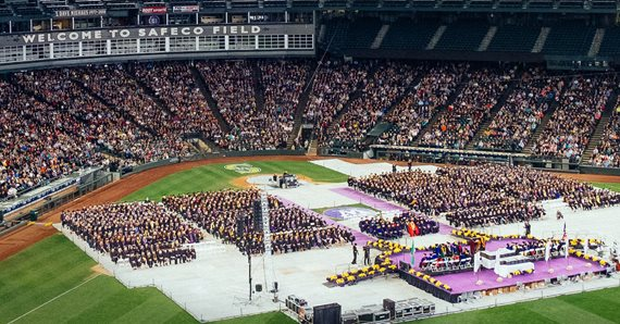 2017 commencement in Safeco Field