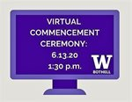 Virtual commencement graphic