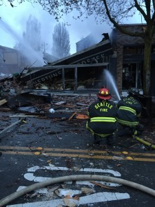 Seattle firefighters at blast