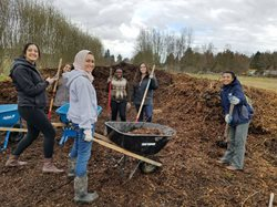 volunteers at Woodinville farm