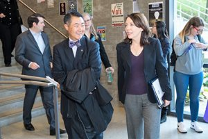 Chancellor Wolf Yeigh with Sen. Maria Cantwell