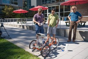 Folsom and students with trike