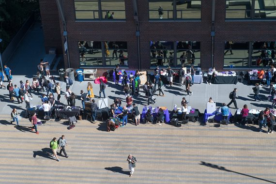 Overhead photo of 2017 Student Activities Fair