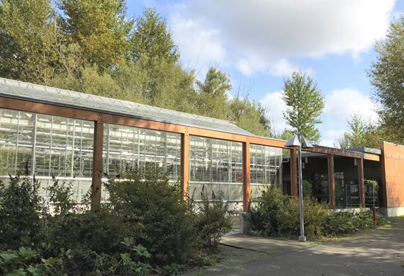 The Conservatory includes greenhouse, classroom and work space.