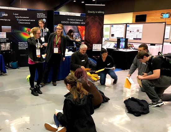 Gravitational Wave Astronomy student outreach event at AAS