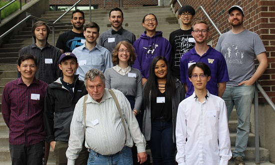 Capstone Physics student presenters and advisor 2018