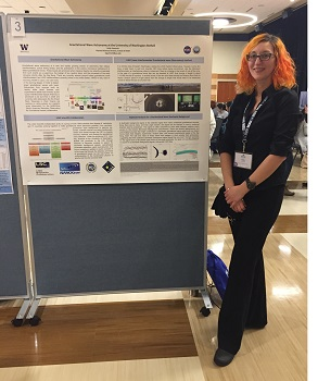 Holly Gummelt Founder's Fellow Research Scholarship winner and her research poster