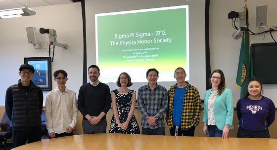 Sigma Pi Sigma new inductees May 2018