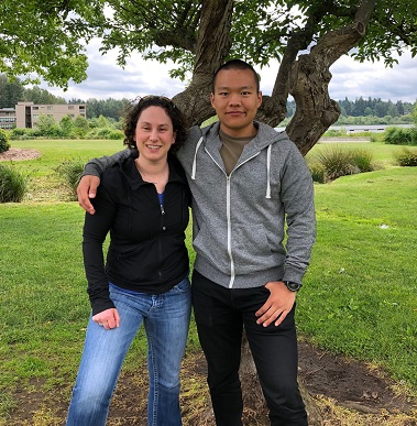 Dr. Lori Robins and Tim Xu