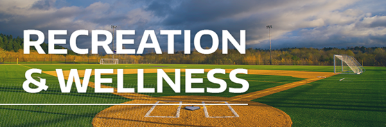 Recreation and wellness banner