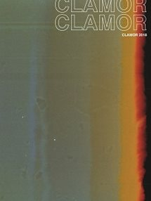Clamor cover with green and black ombre background