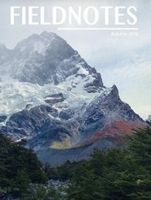 Fieldnotes cover with mountain landscape in back