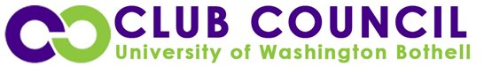 Purple & green Club Council UW Bothell logo