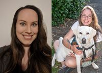 Kelsey Stemm (left) and Jennifer Kolar with dog (right)