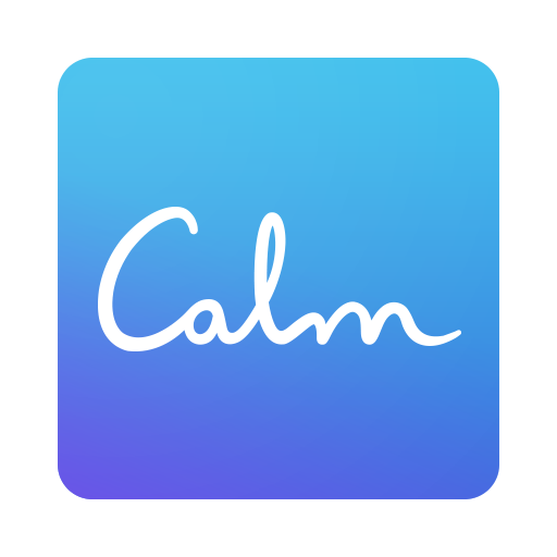 icon of the word calm in cursive