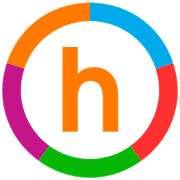 icon of a colorful cirlce ring with an H in the middle