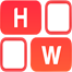 icon of rounded edges squares with the letter H and W in them
