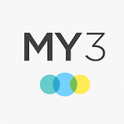 App icon of the MY3 logo with 3 colorful circles under it