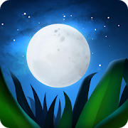 icon of the moon, stars, and grass