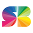 icon of a rainbow logo of SB