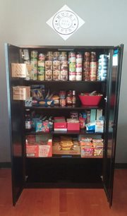 the husky pantry at the Husky Village Community Center