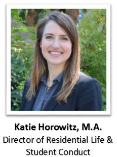 Katie Horowitz, Director of Residential Life and Student Conduct