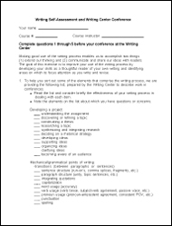 Self Assessment - For Students - Writing & Communication Center ...