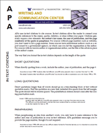 Apa formatting citing sources resources welcome to the new apa handout ccuart Choice Image
