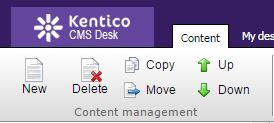 General content management options