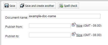 New Document name field