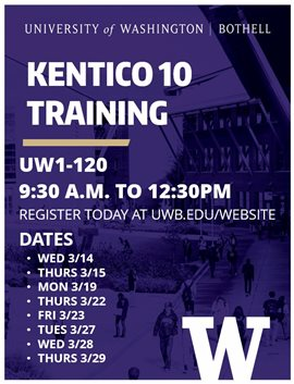 kentico 10 training dates location and time.